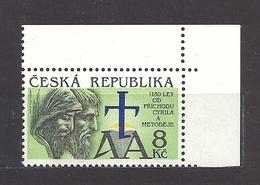 Czech Republic 1993 MNH ** Mi 11 Sc 1130 Anniversary Of The Arrival Of Cyril And Methodius. Tschechische Republik. - Czech Republic