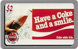 USA - Sprint - Score Board - SBI-474 - Coca Cola Adv. '95, Remote Mem. 2$, 7.100ex, Mint - Vereinigte Staaten