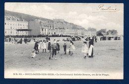62. Boulogne Sur Mer. Le Boulevard Sainte-Beuve Vu De La Plage. Hôtel Impérial, Kiosque à Musique. 1906 - Boulogne Sur Mer