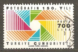 Turkey: 1 Used Stamp From A Set, 150 Years Of Photography, 1989, Mi#2866. - 1921-... Republiek