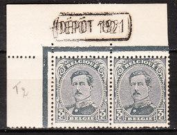 183**  Emission De 1915 - Paire - Inscriptions Marginales DEPOT 1921 - MNH** - LOOK!!!! - 1915-1920 Albert I