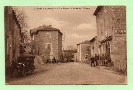 CPA - LAGORCE - La Route, Entrée Du Village - ANIMEE - - Autres Communes