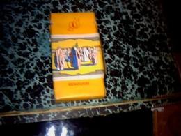 Publicité Cigarette Paquet Vide Ancien  En Carton Marque Senoussy Fabrication Allemande - Cigarettes - Accessoires