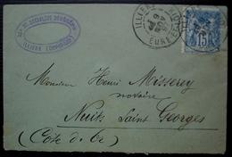 Illiers 1897 (Eure Et Loir) Maître E. Morin Notaire Pour Me Misserey Notaire à Nuits Saint Georges - Poststempel (Briefe)