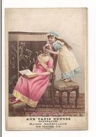 CHROMO JEUX DE PETITES FILLES - AUX TAPIS ROUGES - PONTOISE - Maison BARBILLION - - Trade Cards