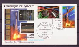 Djibouti - Dschibuti FDC 1985 Y&T N°PA219 à 221 - Michel N°454 à 456 - Centre De Télécommunication-Arabsat-Ariane - Djibouti (1977-...)