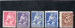 LITUANIE 1921-2 * - Lituanie