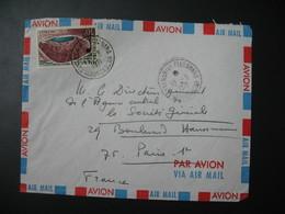 Lettre Thème  Volcan Lac Tritriva   Madagascar 1971 Pour La Sté Générale En France Bd Haussmann Paris - Madagaskar (1960-...)