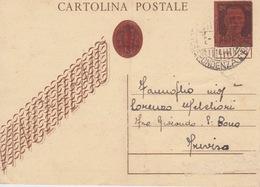 ITALIA - 1945- CARTOLINA POSTALE VIAGGIATA  DA LIRE 1,20 SU C.30 MASCHERINA - DIFETTI - - 5. 1944-46 Luogotenenza & Umberto II