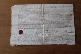 Diplôme Alexandre Le Brun  De Dinteville Seigneur De  Bellan  1750 Avec Cachet De Cire - Documents Historiques