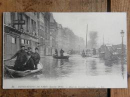 CPA (75) Paris - 75006 - Inondations De Paris - Quai Des Grands Augustins - Inondations De 1910