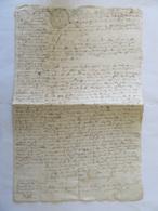 Grand Parchemin Manuscrit à étudier - Papier Timbre Provence Deux Sols - Une Date, 1745 En Page 4 - Documents Historiques