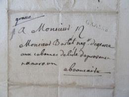 Lettre Datée Du 23 Juillet 1760 - Grasse Vers Beaucaire - Marque Linéaire GRASSE - Marcophilie (Lettres)