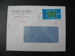 Lettre  Banque Malienne De Crédit & De Dépots Thème  Année Internationale Du Livre  Mali 1973 - Mali (1959-...)