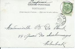Zichtkaart Mechelen Met OCB 56 - Afstempeling RUMPST - COBA 8 - 1893-1907 Coat Of Arms