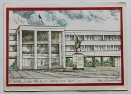 Carte Postale Illustrateur Yves Ducourtioux école Militaire Coëtquidan Saint Cyr - Caserme