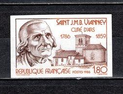 FRANCE  N° 2418  NON DENTELE NEUF SANS CHARNIERE  COTE 20.00€  SAINT JMB VIANNEY  EGLISE - France