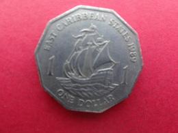 East  Caraibes  1 Dollar  1989  Km 20 - Territoires Britanniques Des Caraïbes