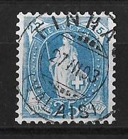 1882 - 1906 STEHENDE HELVETIA (gezähnt) → 2 Kreis Stpl. Gruppe 6A FINHAUT     ►SBK-73E◄ - Gebraucht