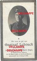 Oorlog Guerre Gustaaf Lehouck Vlamertinge Lansier Gesneuveld Te Leefdaal Leuven AUGUSTUS 1914 JAGERS TE PAARD - Imágenes Religiosas