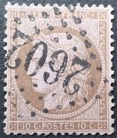 C539/66 - CERES N°58a Brun Foncé Sur Rosé - GC 2602 : NANTES (Loire Inf) - LUXE - 1871-1875 Ceres