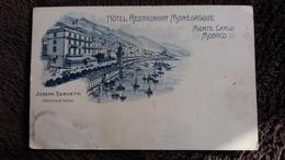 CPA HOTEL RESTAURANT MONEGASQUE MONTE CARLO MONACO JOSEPH SERVETTI ED A TRUB 2 EME CHOIX - Monte-Carlo