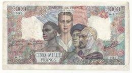 5000 Francs  Empire Français 11-5-1945 (envoi Recommandé Gratuit) - 5 000 F 1942-1947 ''Empire Français''