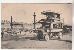 Cpa Paris Place De La Concorde En Autobus - Places, Squares
