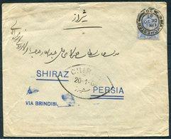 1907 GB Manchester, Hadji Ali Akbar & Sons Cover - Shiraz Persia Via Brindisi, Bouchir - 1902-1951 (Re)