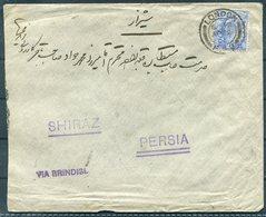 GB London, Hadji Ali Akbar & Sons Cover - Shiraz Persia Via Brindisi, Bouchir - 1902-1951 (Re)