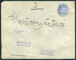 GB London, Hadji Ali Akbar & Sons Cover - Shiraz Persia Via Brindisi - 1902-1951 (Kings)