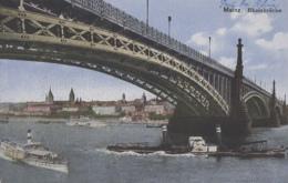 Bâteaux - Navigation Fluviale - Bâteau Vapeur Sur Le Rhin - Mayence - Pont Du Rhin - Otros