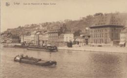 Bâteaux - Navigation Fluviale - Péniche - Liège - Quai De Maestricht Et Maison Curtius - Houseboats