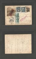 CZECHOSLOVAKIA. 1938 (12 Oct) Brno - Austria, Wien (15 Oct) Express Mail Service Multifkd 120kc Brown Illustrated Stat C - Czechoslovakia