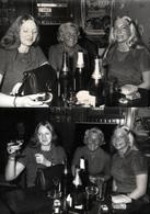 2 Photos Originales A Boire ! 3 Femmes Pour 3 Bouteilles De Champagne Par Foto Sprint Playa De Aro (Gerona) Espagne 1975 - Pin-Ups