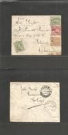 Portugal - XX. 1908 (11 Dec) Carcavelhos - CHINA, Peking (19 Dec, Gregorian Calendar) Multifkd Mouchon Issue Envelope Ca - Portugal