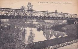 59 - BERLAIMONT - LE PONT PROVISOIRE SUR LA SAMBRE - Berlaimont
