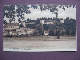 CPA Sépia 57 SIERCK LES BAINS Le Chateau Fort Canton BOUZONVILLE - Francia