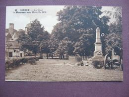 CPA Sépia 57 SIERCK LES BAINS Le Monument Aux Morts De  La Guerre 1870 Canton BOUZONVILLE - Francia