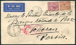 1934 GB London F.S. Airmail Cover - Teheran Persia Via Baghdad Iraq. Banque Nationale De Perse. - 1902-1951 (Rois)