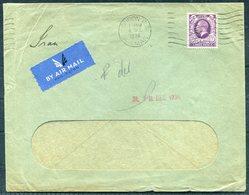 1936 London F.S. Japhet & Co PERFIN, Airmail Cover - Teheran Persia Via Baghdad Iraq - 1902-1951 (Kings)
