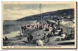 CPA Deauville La Plage Fleurie La Plage Et Les Hauteurs De Trouville - Deauville
