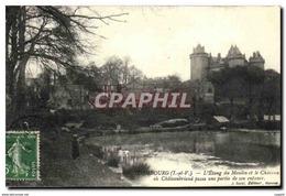 CPA Combourg L Etang Du Moulin Et Le Chateau - Combourg