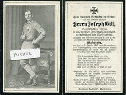 Ardennes.ST.ETIENNE A ARNES. 1917 Sterbebild Avis De Décès Soldat Allemand - 1914-18