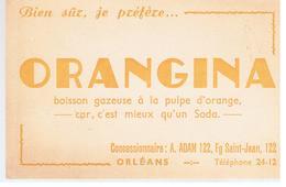 Buvard ORANGINA Bien Sûr, Je Préfère ORANGINA Concessionnaire A. ADAM 122 Fg Saint-Jean Orléans - Limonades