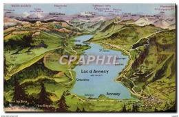 CPA Lac D&#39Annecy Publicite Annecy Grands Magasins Des Dames De France Les Mouettes Canots Autos T - France
