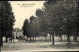 Cp Selles Sur Cher Loir Et Cher, Le Champ De Foire - Frankrijk