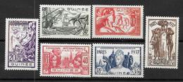 "GUINEE Colonie Française : Série ""Expo 37""  N° 119 à 124 ** (cote 15,60 €) - Nuovi"