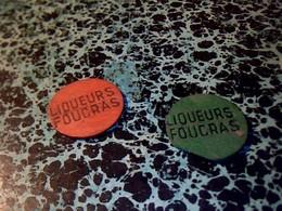 Jeton Publicitaire De Nain Jaune En Bois, Liqueurs Foucras - Autres