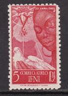 IFNI 1951 - Isabel La Catolica Sello Nuevo Con Fijasellos Edifil Nº 72 -MH- - Ifni
